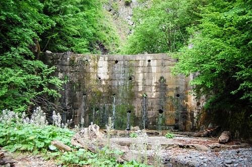 Small concrete dam