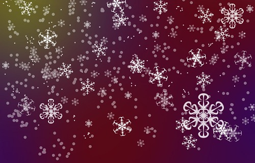 Snowflakes light blur background