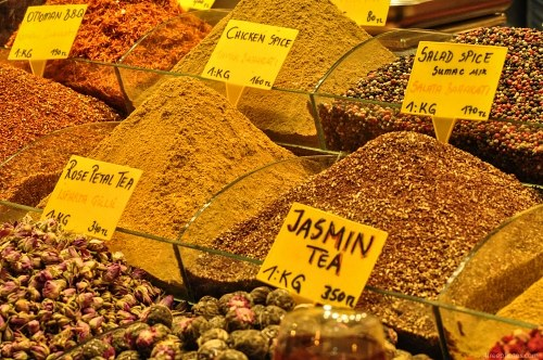 Spices sold in Bazaar