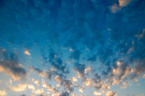 Sunset clouds texture