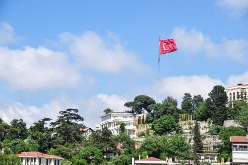 Turkish flag hill city