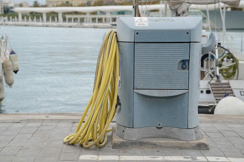 Utility station and hose in port