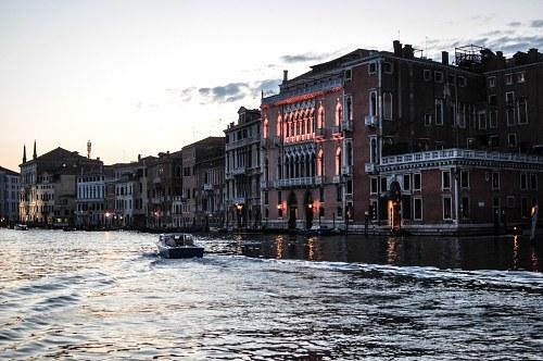 Venice taxi sunset