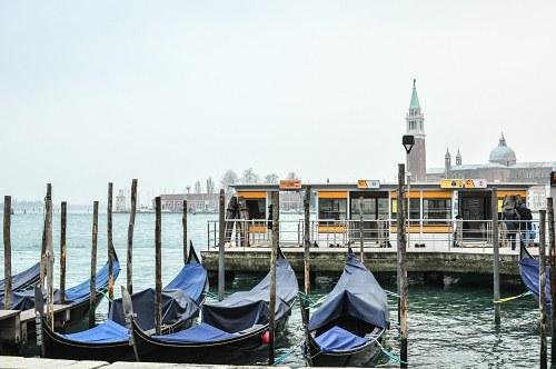 Venice water bus stop