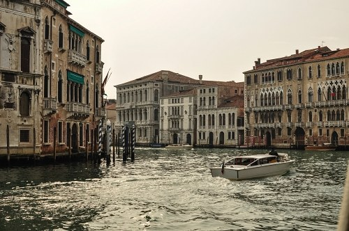 Venice water taxis