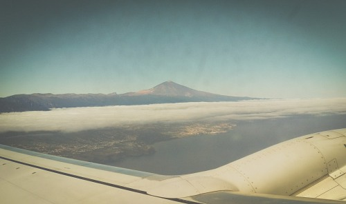 Volcano seen from airplane