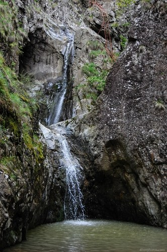 Waterfall rocks mountain