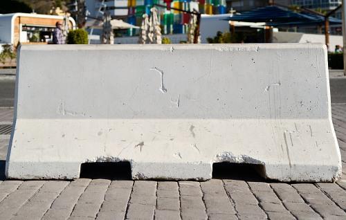 White concrete slab