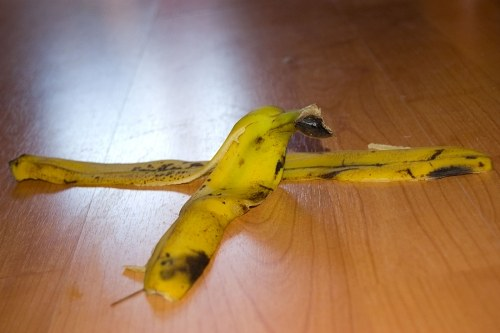 Free photos: Banana peel on wooden floor