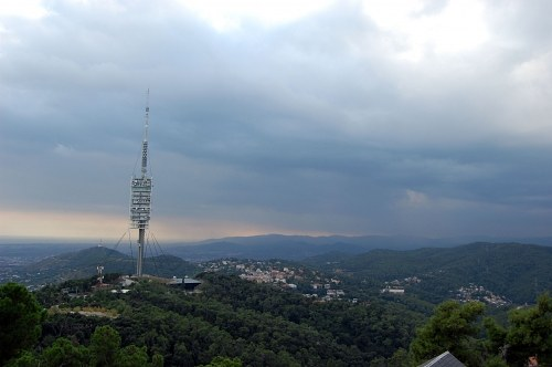 Barcelona telecommunication tower on Tibidabo free photo