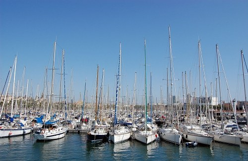 Boats and yachts in port