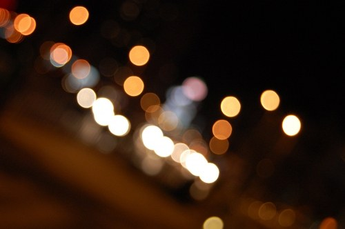 City lights out of focus