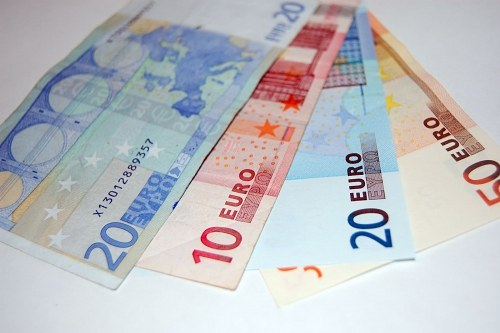 Eurobanknoten in der Ventilatorform