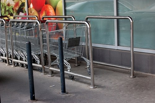 Free photos: Metal shopping carts at supermarket
