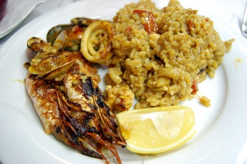 Paella meal in a restaurant