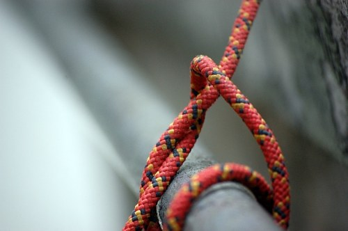 Rope tied from a bar