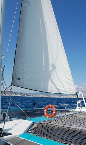 Sails of a catamaran
