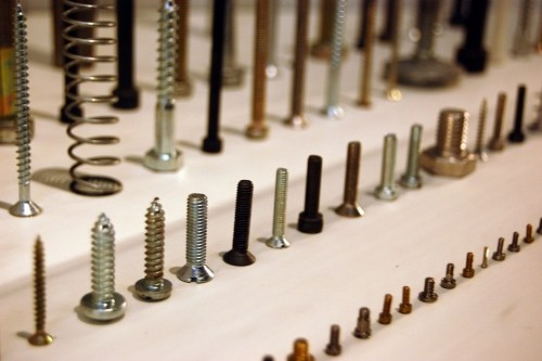 Screws and bolts line up