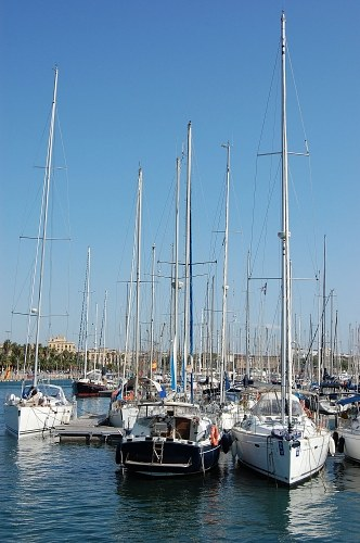 Small boats and yachts in port