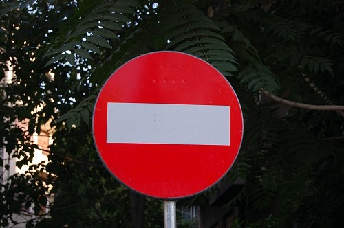 Stop sign in traffic