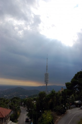 Tibidabo television tower free photo