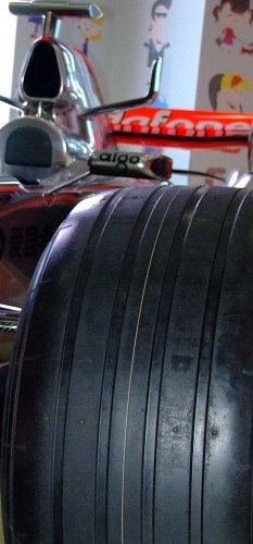 Tire of a f1 racing car
