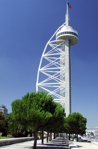 Vasco da Gama tower in Park of Nations