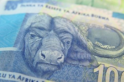 100 rand banknote closeup