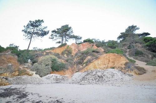Arid beach in southern Portugal