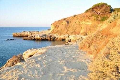 Arid ocean landscape