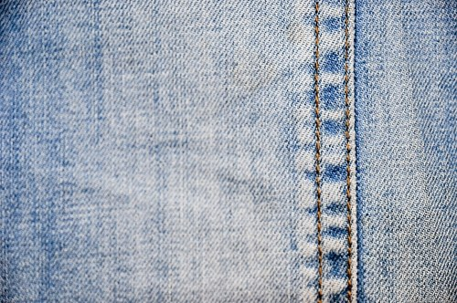 Blue jeans sewing