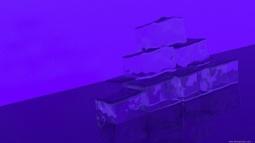 Blue light ice cubes
