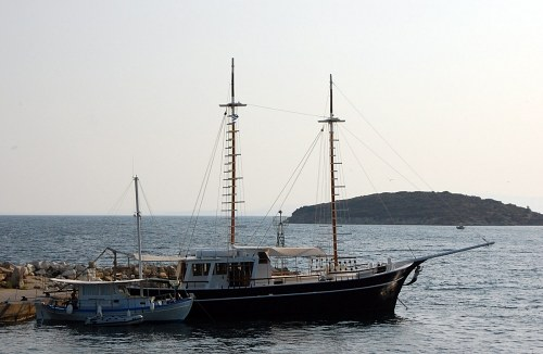 Boten in haven