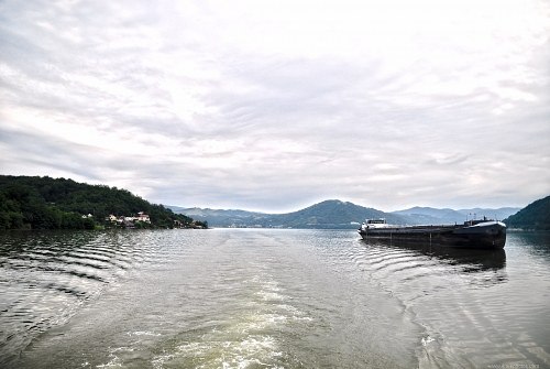 Cargo barge on Danube