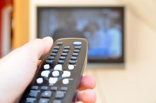 Changing tv channels with a remote