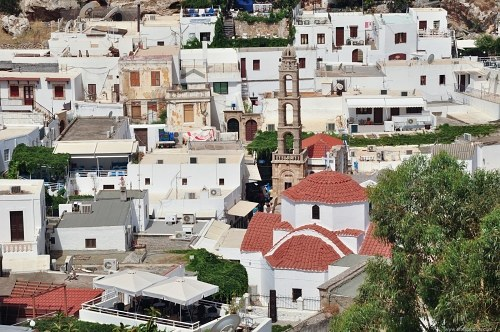Church in greek town