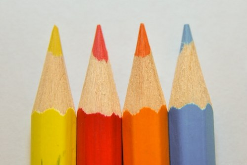 Color crayons detail