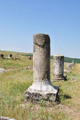 Columns in archeological site