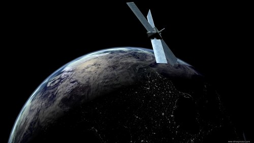 Communications satellite on orbit