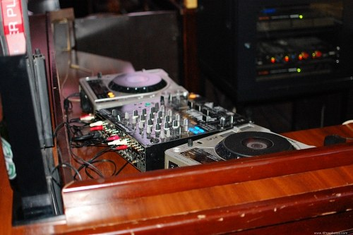 DJ station in club