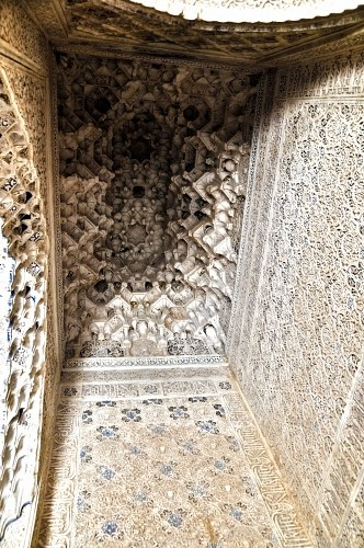 Decorated ceiling in an arabic palace