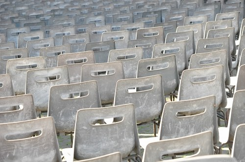 Dirty plastic chairs