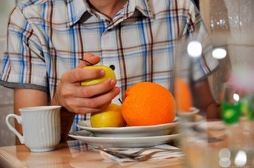 Free photos: Eating fruits at breakfast
