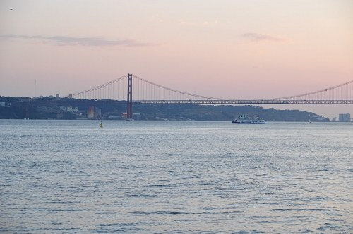 Ferry crossing Tejo river