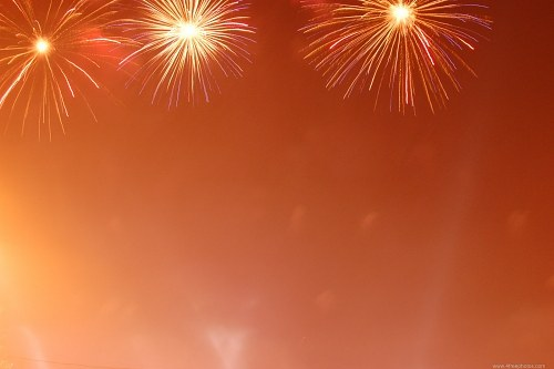 Fireworks light background