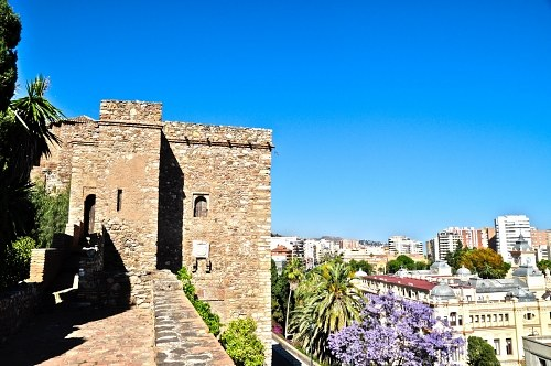 Fortress tower in Malaga