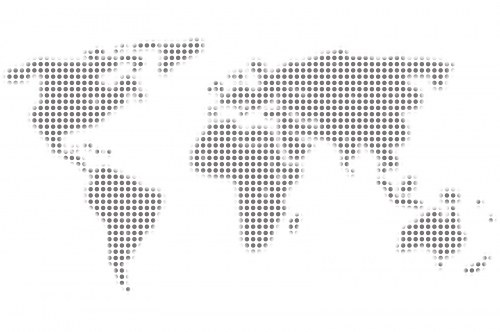 Free photos: Gray world map