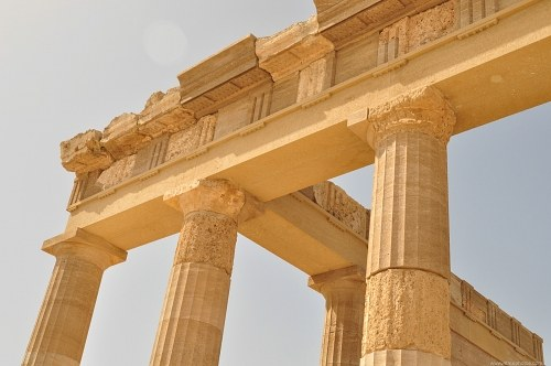 Greek temple columns