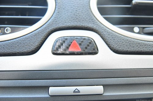 Hazard lights button