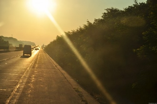 Free photos: Highway sunrise